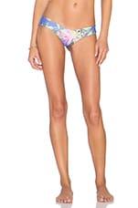 Stone Fox Swim Tucker Signature Thong Bikini Bottom in Blue Ginger