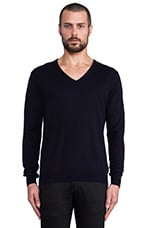 V-Neck Sweater in Navy