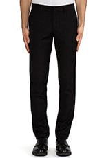 Slim Fit Suit Pant in Black Wool