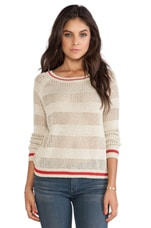 Shadow Stripe Pullover Sweater in Gold Combo