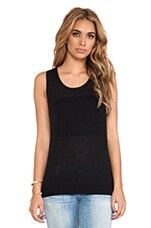 Twist Back Tank in Black