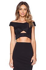 X-Front Crop Top in Black