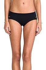 Neoprene Cut Out Bikini Bottom in Black