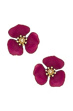 SHASHI Flower Stud in Purple