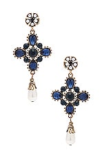 SHASHI Gloria Earrings in Navy