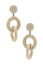 SHASHI Carmen Drop Earrings in White