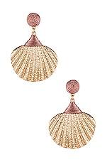 SHASHI Ariel Shell Drop Earring in Gold