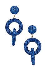 SHASHI Carmen Drop Earrings in Cobalt