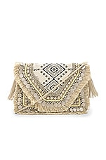 SHASHI Alexa Clutch in Multi