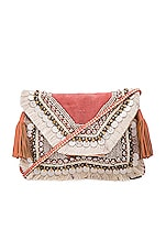 Lella Clutch in Coral