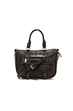 Rise Above Mini Satchel in Black Perf