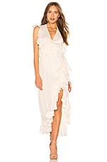 Shona Joy Zephyr Wrap Dress in Cream