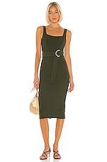 Shona Joy X REVOLVE Davis Square Neck Midi Dress in Dark Khaki