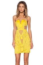 Shona Joy The Desired Bustier Mini Dress in Yellow
