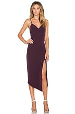 The Pass Cocktail Midi Dress in Aubergine