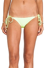 Beaded String Bottom in Neon Yellow