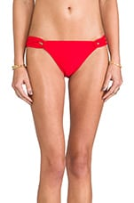 Solid Bikini Bottom in Cherry Red