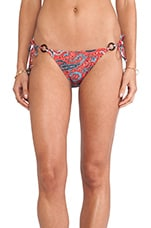 Ring String Bikini Bottom in Portland Paisley