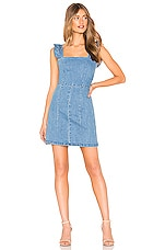 Show Me Your Mumu Ruthie Ruffle Dress in Amalfi Blue