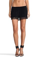 Foggy Fringe Knickers in Black Crepe