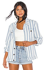 Show Me Your Mumu Drine Jacket in Marina Stripe