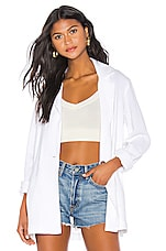 Show Me Your Mumu Artemis Blazer in White Linen