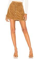 Show Me Your Mumu Sedona Skirt in Stretch Corduroy Hazelnut