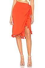 Show Me Your Mumu Anjolie Wrap Skirt With Tassels in Bellini