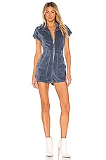 Show Me Your Mumu X REVOLVE Outlaw Romper in Dusty Blue