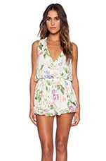 Show Me Your Mumu Riri Romper in Flower Press