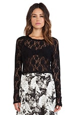 Cher Crop Top in Blooming Lace Black