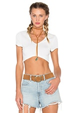 Miami Top en Bone Solid Stretch