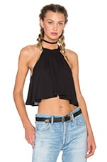 Mateo Tie Top en Black Crisp