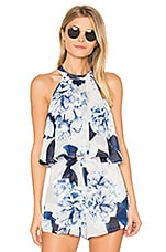 Mateo Tie Back Top in Bouquet Blue