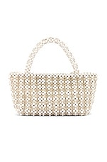 Show Me Your Mumu X Cleobella Clementine Beaded Bag in Ivory