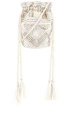 Show Me Your Mumu X Cleobella Penelope Beaded Bucket Bag in Ivory