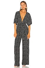 Shaycation x REVOLVE The Lisa Jumpsuit in Black White Dot