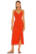 Shaycation x REVOLVE Grace Midi Dress in Blood Orange
