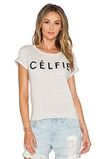Celfie Tee in Snow Melange