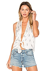 SIR the label Sienna Tie Top in Square Print