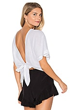 Brooke Wrap Top in White