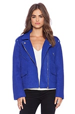 Blue Smoke Biker Jacket in Blue