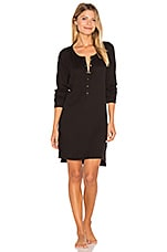 Button Front Tunic in Black