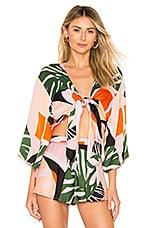 SKYE & staghorn Eddie Silk Satin Kimono Top in Forbode