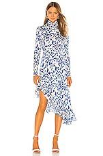SAU LEE Mary Dress in Blue & White Print