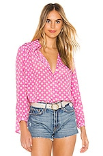 Selkie The Breezy Blouse in Polka Dots