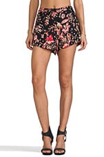 Moss Heart Floral Shorts in Multi