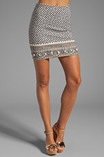 Relax Paisley Print Mini Skirt in Multi