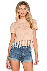 High Hopes Knit Top en Blanc Cassé