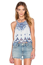 Azul Cutwork Top en Bleu